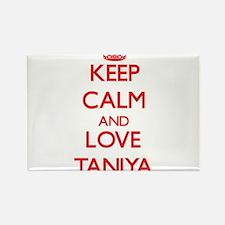 Keep Calm and Love Taniya Magnets