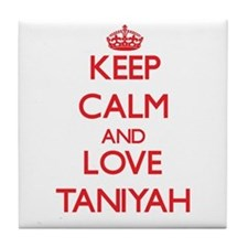 Keep Calm and Love Taniyah Tile Coaster