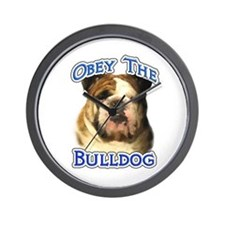Bulldog Obey Wall Clock