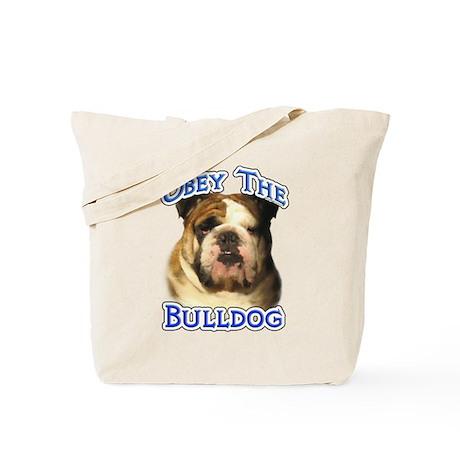 Bulldog Obey Tote Bag