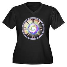 Cool Ku Women's Plus Size V-Neck Dark T-Shirt