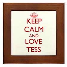 Keep Calm and Love Tess Framed Tile