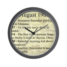 August 19th Wall Clock