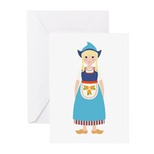 Little Dutch Girl Greeting Cards