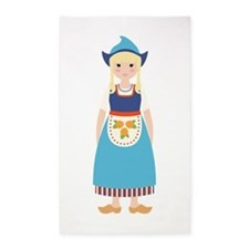 Little Dutch Girl 3'x5' Area Rug