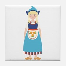 Little Dutch Girl Tile Coaster