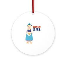 DUTCH GIRL Ornament (Round)