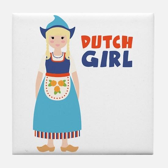 DUTCH GIRL Tile Coaster
