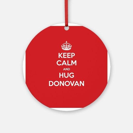 Hug Donovan Ornament (Round)