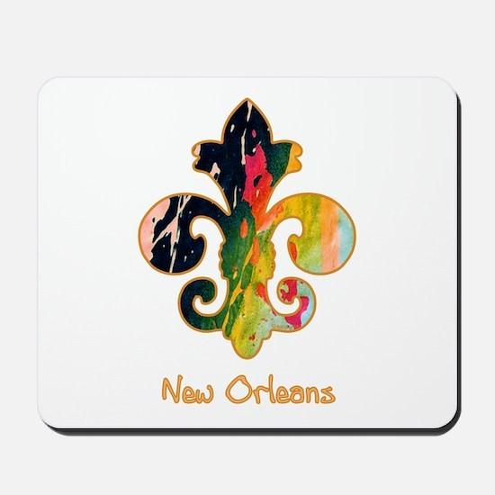 Painted Fleur de lis (1) Mousepad