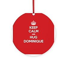 Hug Dominique Ornament (Round)