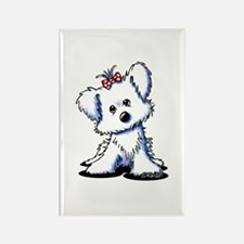 Girlie Maltese Rectangle Magnet (100 pack)