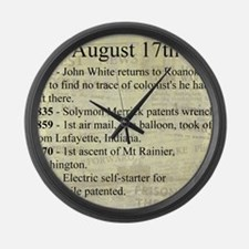 August 17th Large Wall Clock