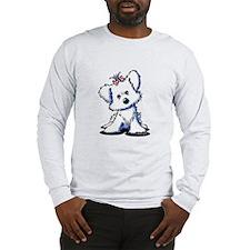Girlie Maltese Long Sleeve T-Shirt