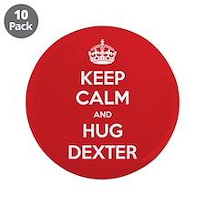 """Hug Dexter 3.5"""" Button (10 pack)"""
