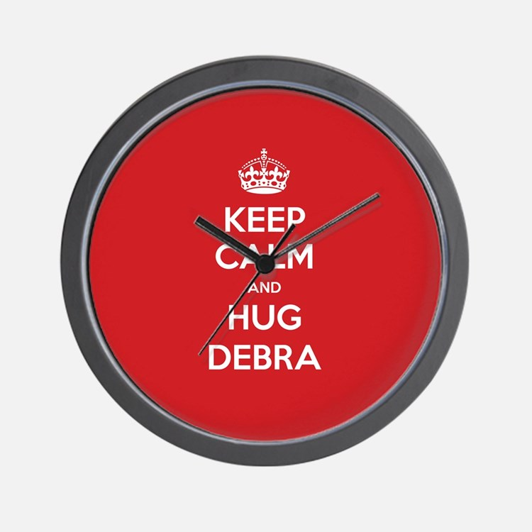 Hug Debra Wall Clock