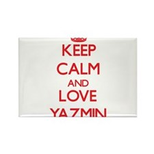 Keep Calm and Love Yazmin Magnets