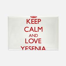 Keep Calm and Love Yesenia Magnets