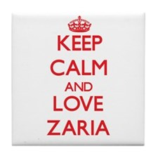 Keep Calm and Love Zaria Tile Coaster