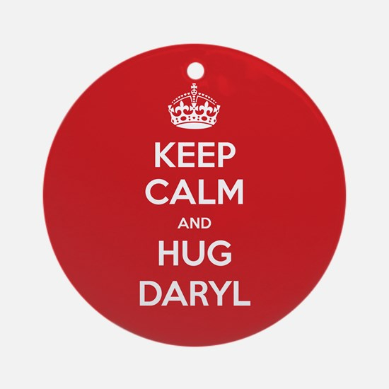 Hug Daryl Ornament (Round)