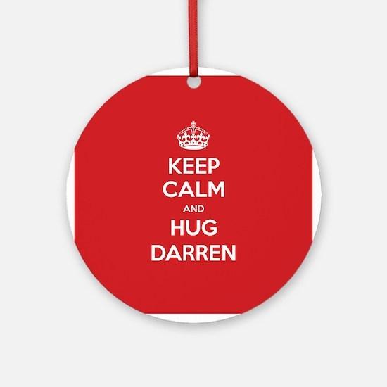 Hug Darren Ornament (Round)