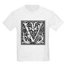 Decorative Letter V T-Shirt