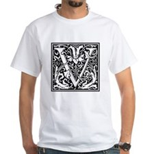 Decorative Letter V T-Shirt