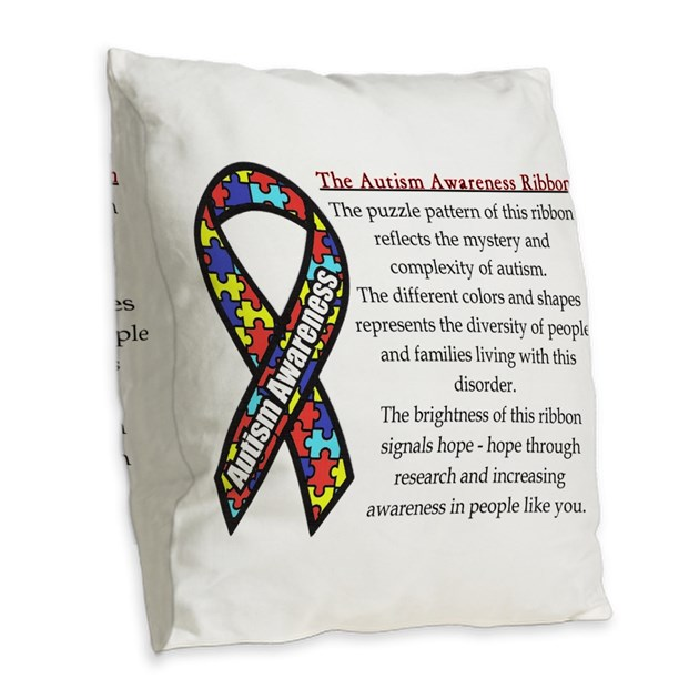 Ribbon Meaning.png Burlap Throw Pillow by hopefay