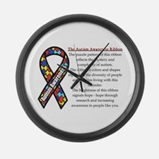 Ribbon Meaning.png Large Wall Clock
