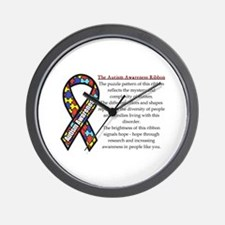 Ribbon Meaning.png Wall Clock