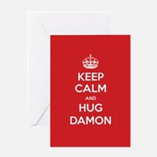 Hug Damon Greeting Cards