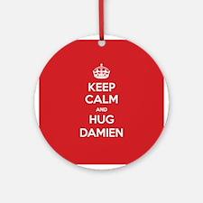 Hug Damien Ornament (Round)