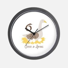 6 Geese a-laYiNG Wall Clock