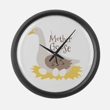 Mother GooSe Large Wall Clock