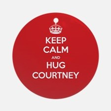 Hug Courtney Ornament (Round)