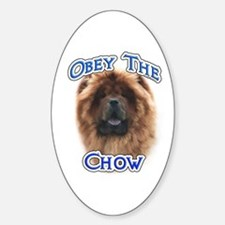 Chow Obey Oval Decal