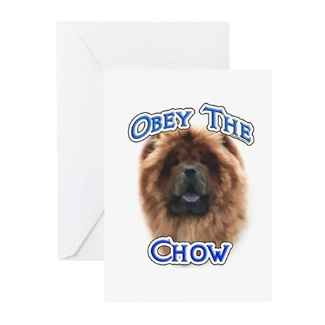 Chow Obey Greeting Cards (Pk of 10)