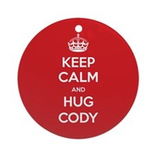 Hug Cody Ornament (Round)