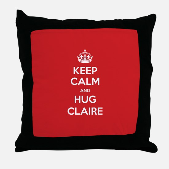 Hug Claire Throw Pillow
