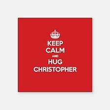 Hug Christopher Sticker