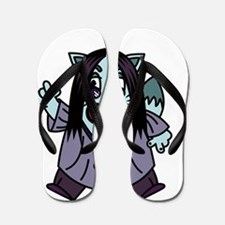 BLIZZY CAT Flip Flops