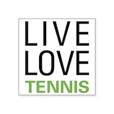 Live Love Tennis Rectangle Sticker