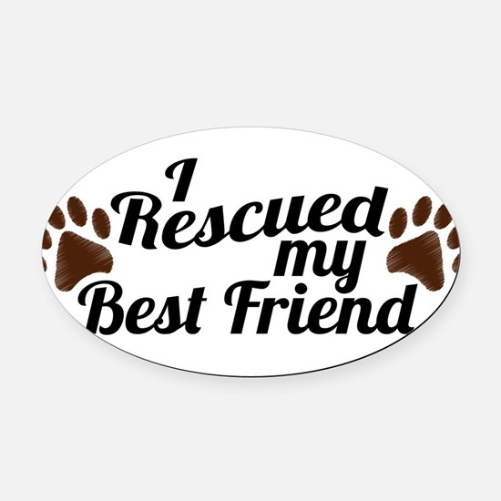 Animal rights Oval Car Magnet