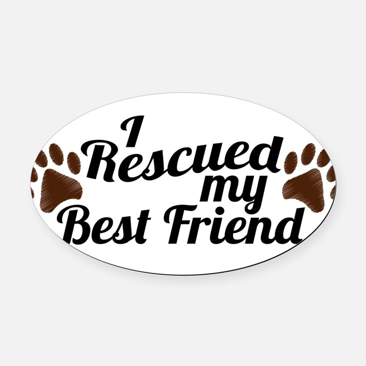 Cute Animal rights Oval Car Magnet