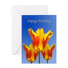 Birthday card, tulips full of sunshine Greeting Ca