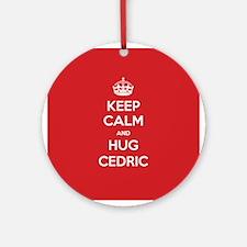 Hug Cedric Ornament (Round)