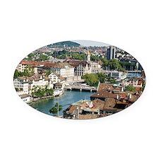 Zurich 002 Oval Car Magnet