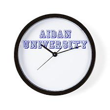 Aidan University Wall Clock