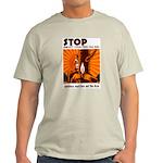 WWII-era WPA anti-forest fire grey T-shirt