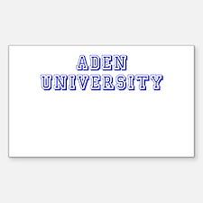 Aden University Rectangle Decal